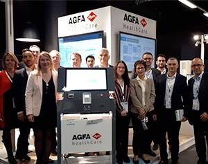 Agfa HealthCare JIB 2018 borne d'accueil patient santé IPM France