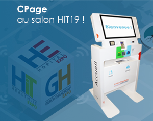Borne interactive admission patient-Cpage-salon HIT2019