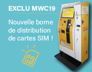 Exclu MWC19-borne interactive distribution cartes SIM-IPM France