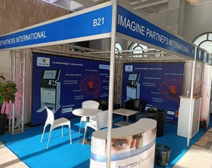 ImaginePartners-salon ICT Maghreb 2021-IPM France-borne interactive