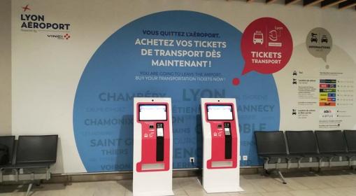 Interactive ticket vending kiosk -Aeroport de Lyon-flixbus-ouibus-IPM France