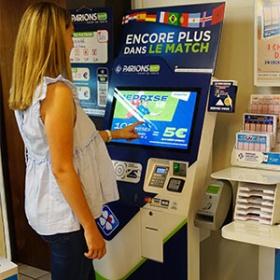 Kiosco interactivo de pago-IPM France