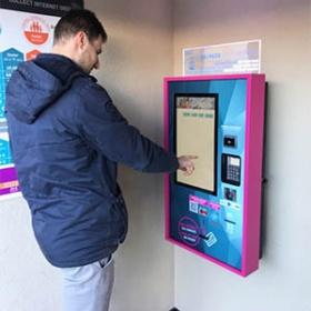 Kioscos interactivos para la distribución de tarjetas, tickets, billetes y entradas-IPM France