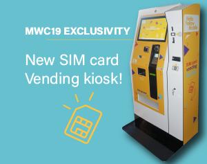 SIM card vending kiosk-MWC19-IPM France