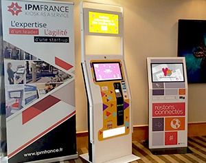 Salon E-BISS La poste- bornes interactives IPM France