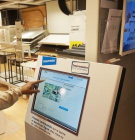 Self-ordering kiosk sofibrie