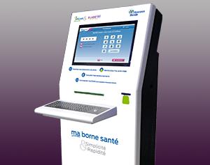 borne-interactive - consultation-impression-carte vitale