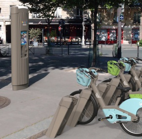 borne interactive d'abonnement transport Velib