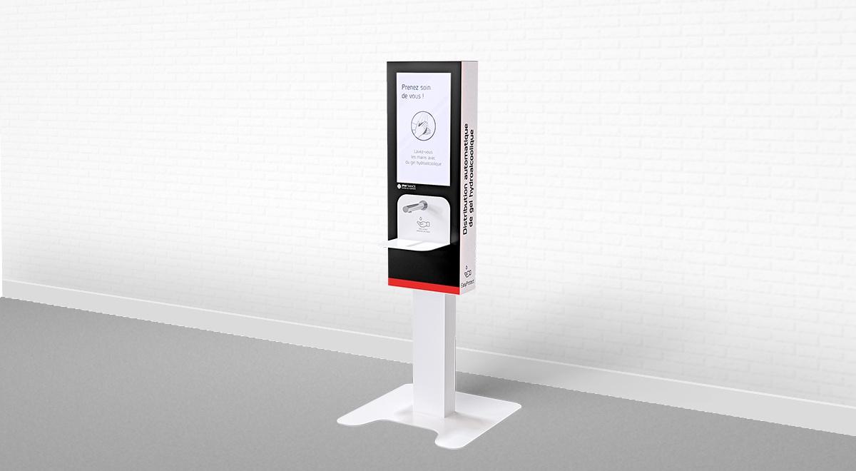 Antibacterial handgel dispenser kiosk-IPM France