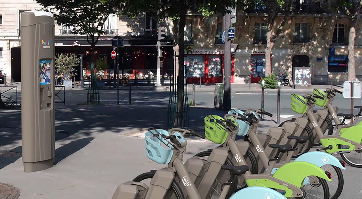 Borne interactive exterieur Velib-IPM France