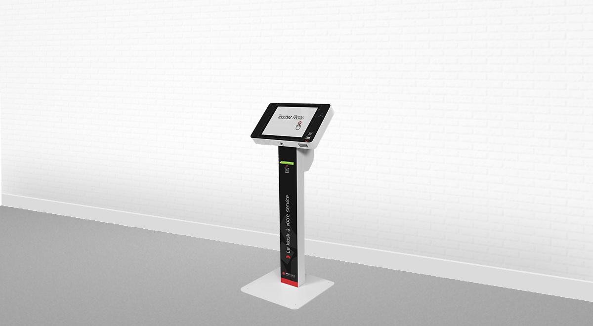 Borne interactive information-gestion de file d'attente-EK2000-IPM France
