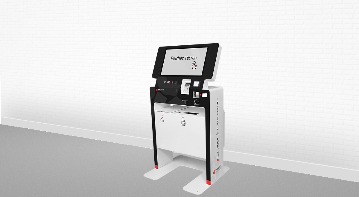 Borne interactive multi-service-impression-scan-EK4000-IPM France