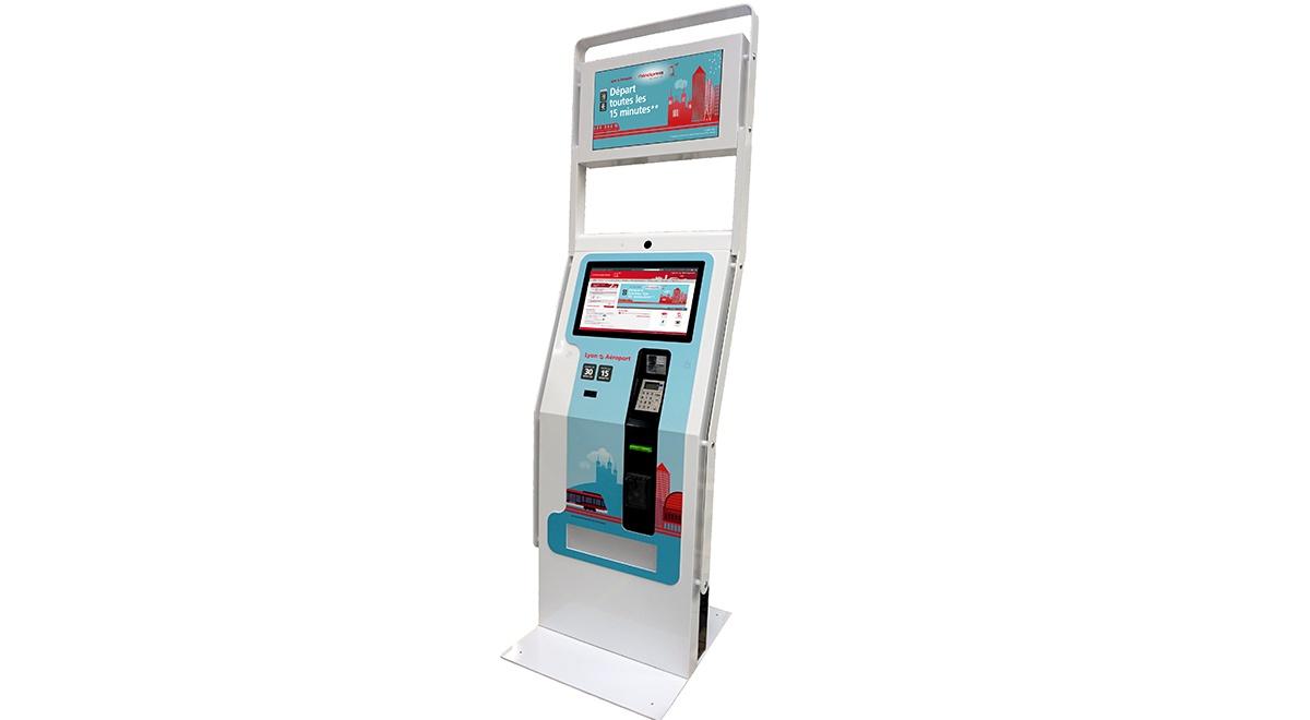 Bornes interactives de distribution de cartes, tickets