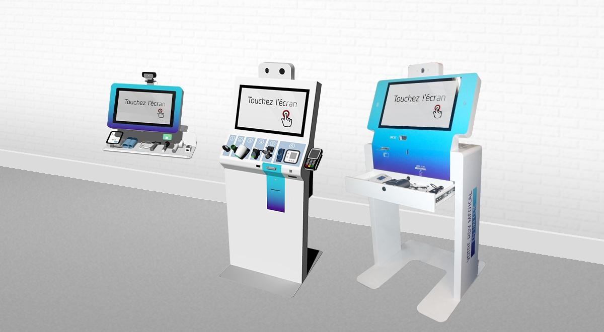 Bornes interactives de téléconsultation-dispositifs médicaux connectés