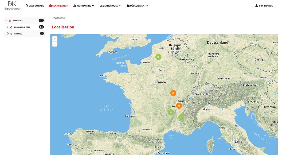 Data parcours client Dashkiosk_Localisation bornes interactives