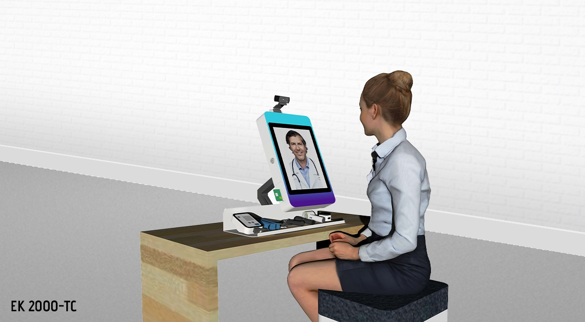 EK 2000-TC_Borne interactive de téléconsultation-dispositifs médicaux connectés