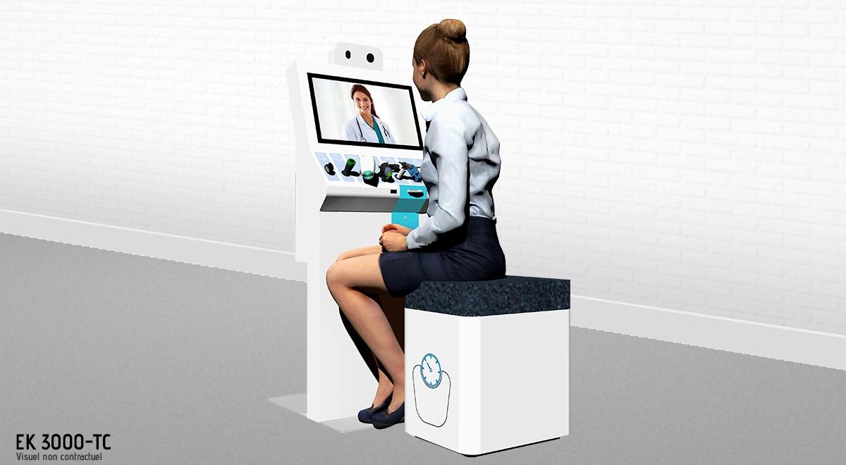 EK 3000-TC_Borne interactive de téléconsultation-dispositifs médicaux connectés