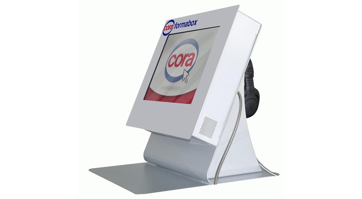Interactive e-learning kiosk cora