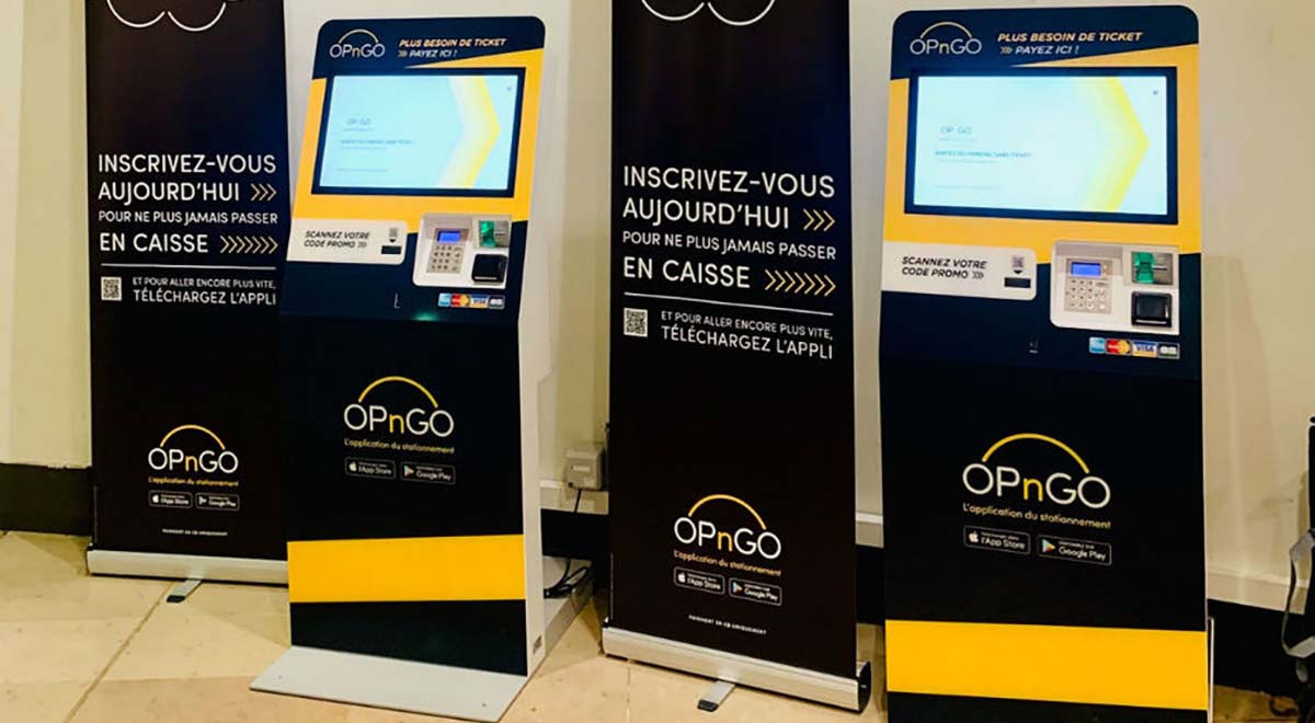 Kiosco interactivo de pago OPnGO-IPM France