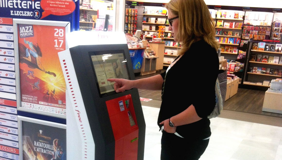 SIM card vending kiosk free mobile