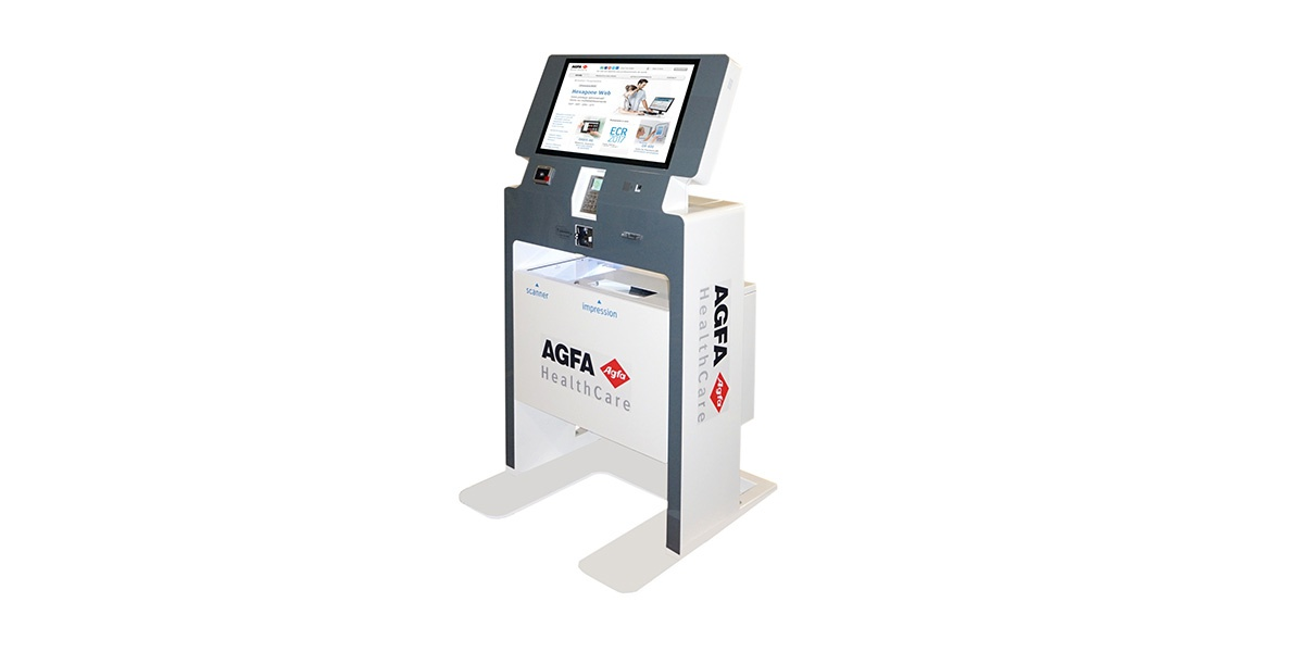 borne interactive multi-services Agfa healthcare