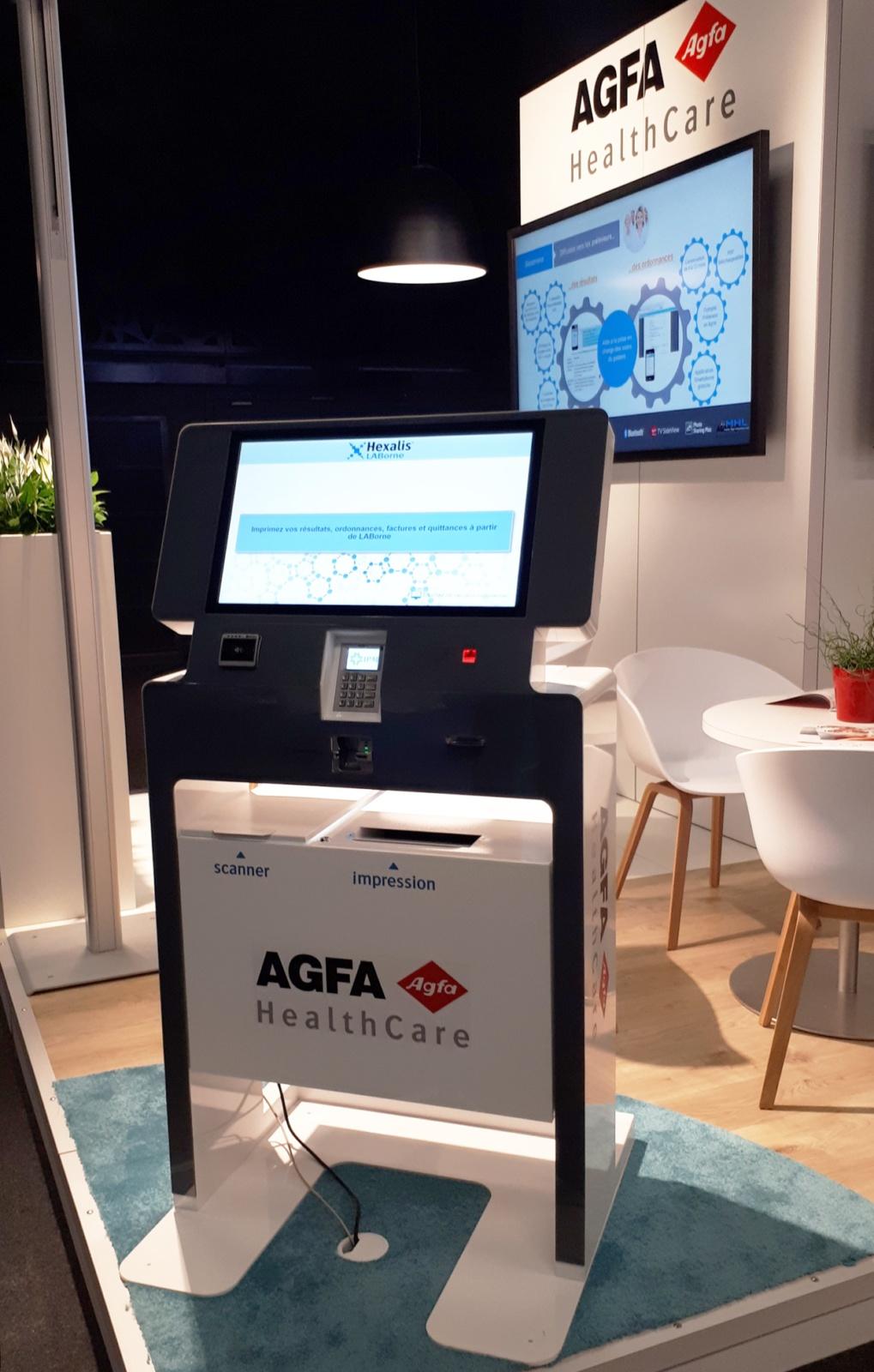 Borne interactive accueil patient santé Agfa HealthCare IPM France JIB 2018