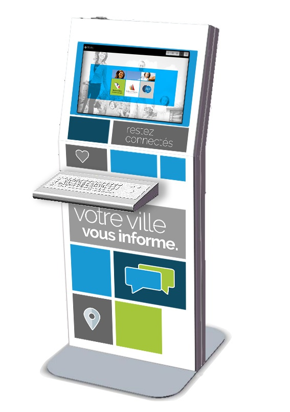 bornes interactives tactiles IPM France accueil mairie information ville smart city