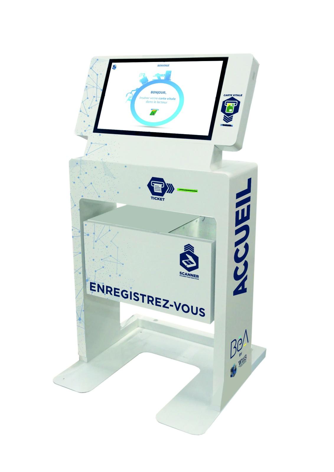 Borne tatcile interactive IPM FRANCE & Wiis Laboratoire