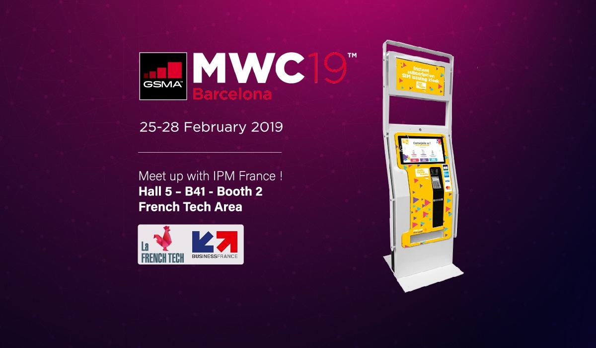 IPM France-MWC-borne de distribution de carte SIM