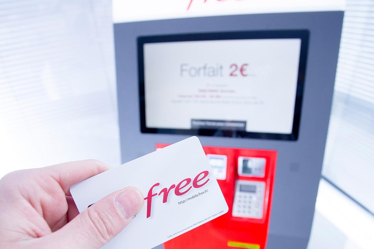 Kiosco de distribución de tarjetas SIM FREE