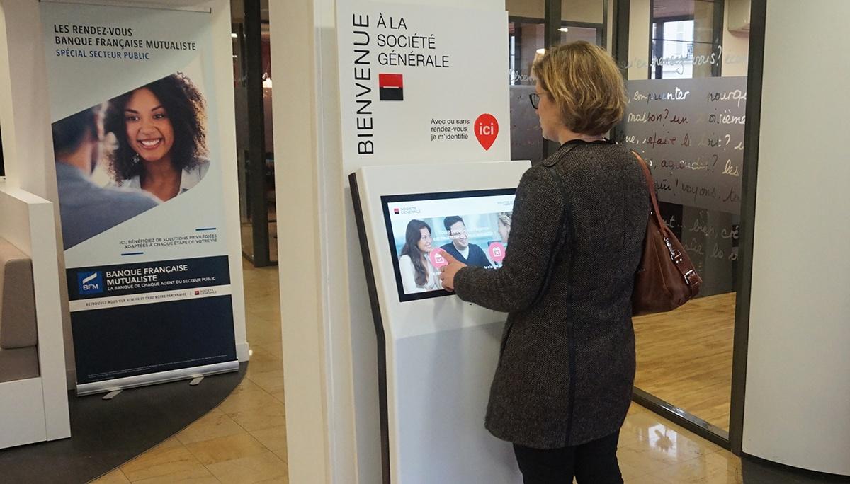 Reception kiosk societe generale