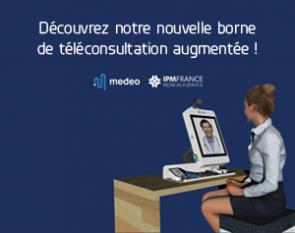 Borne de téléconsultation Medeo x IPM France