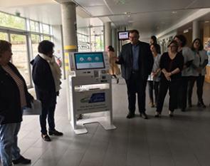 Borne interactive sante-ipm france-agfa healthcare-Cahors