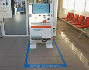 borne interactive d'admission patient et multi-services-Institut paoli calmettes