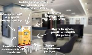 Bornes explicatives santé enfants Abeilles editions IPM FRANCe