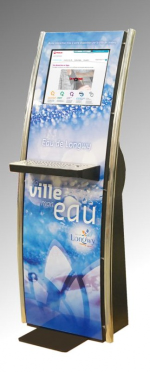 bornes interactives tactiles IPM France accueil mairie information ville smart city veolia
