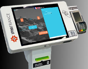 borne tactile interactive paiement et rechargement ek 2000