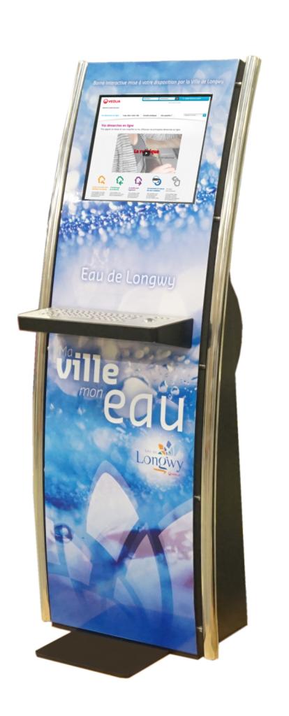 borne tactile information mairie veolia eau