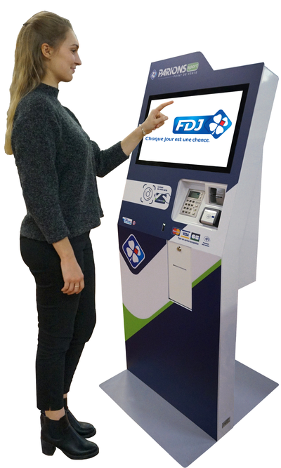 bornes interactives IPM France pour la FDJ