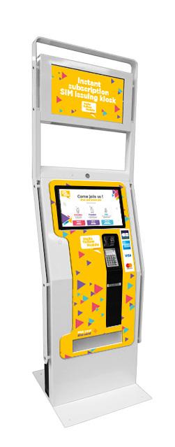 interactive SIM card distribution kiosk solution