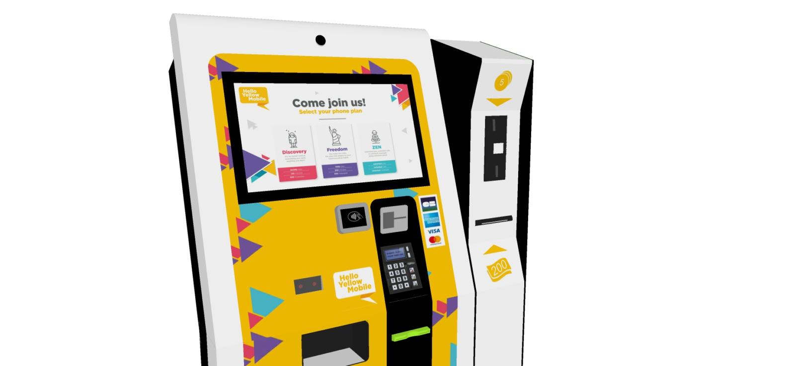 SIM card vending kiosk-payment cash-IPM france