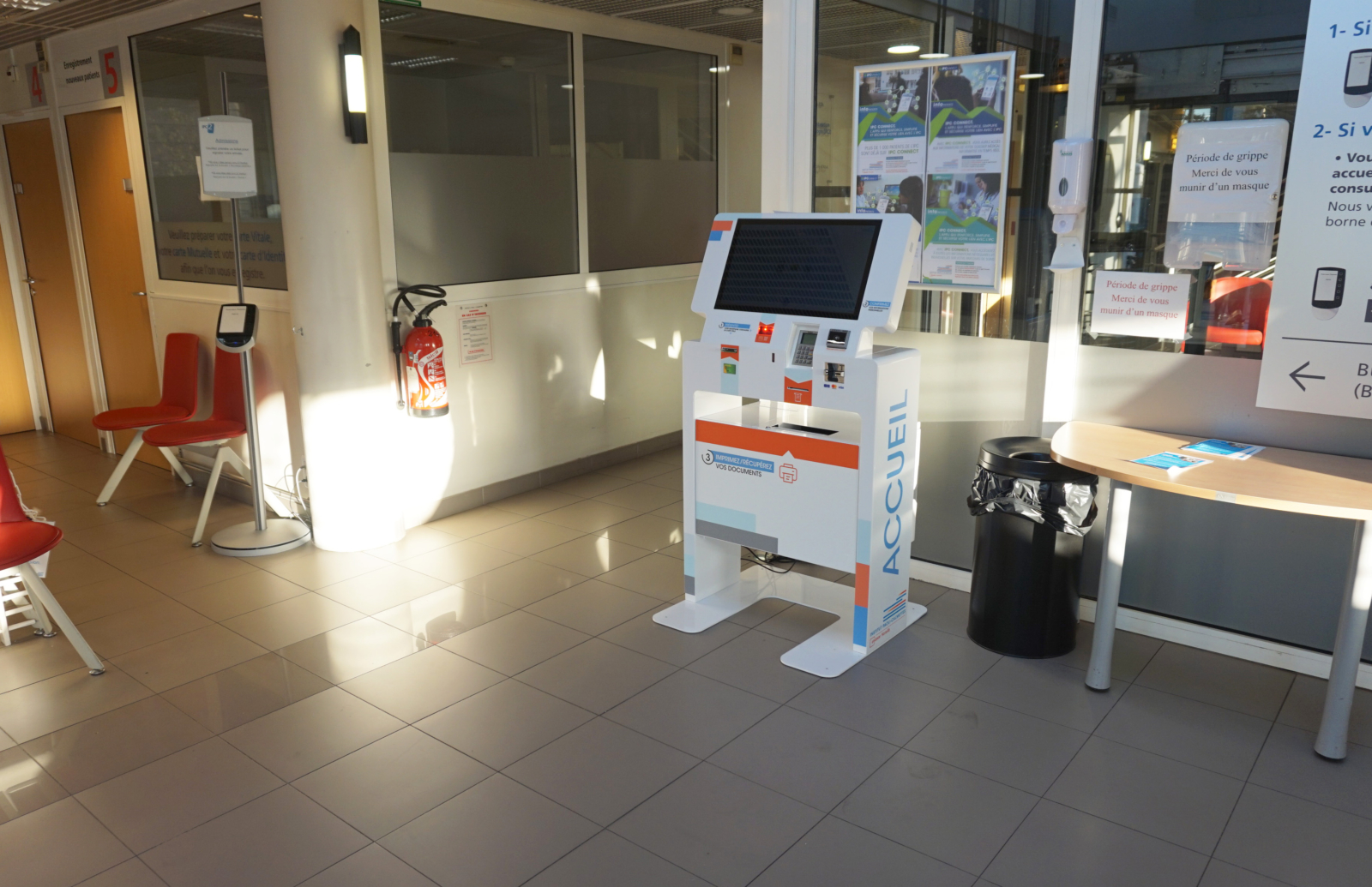Interactive kiosk-patient admission IPC