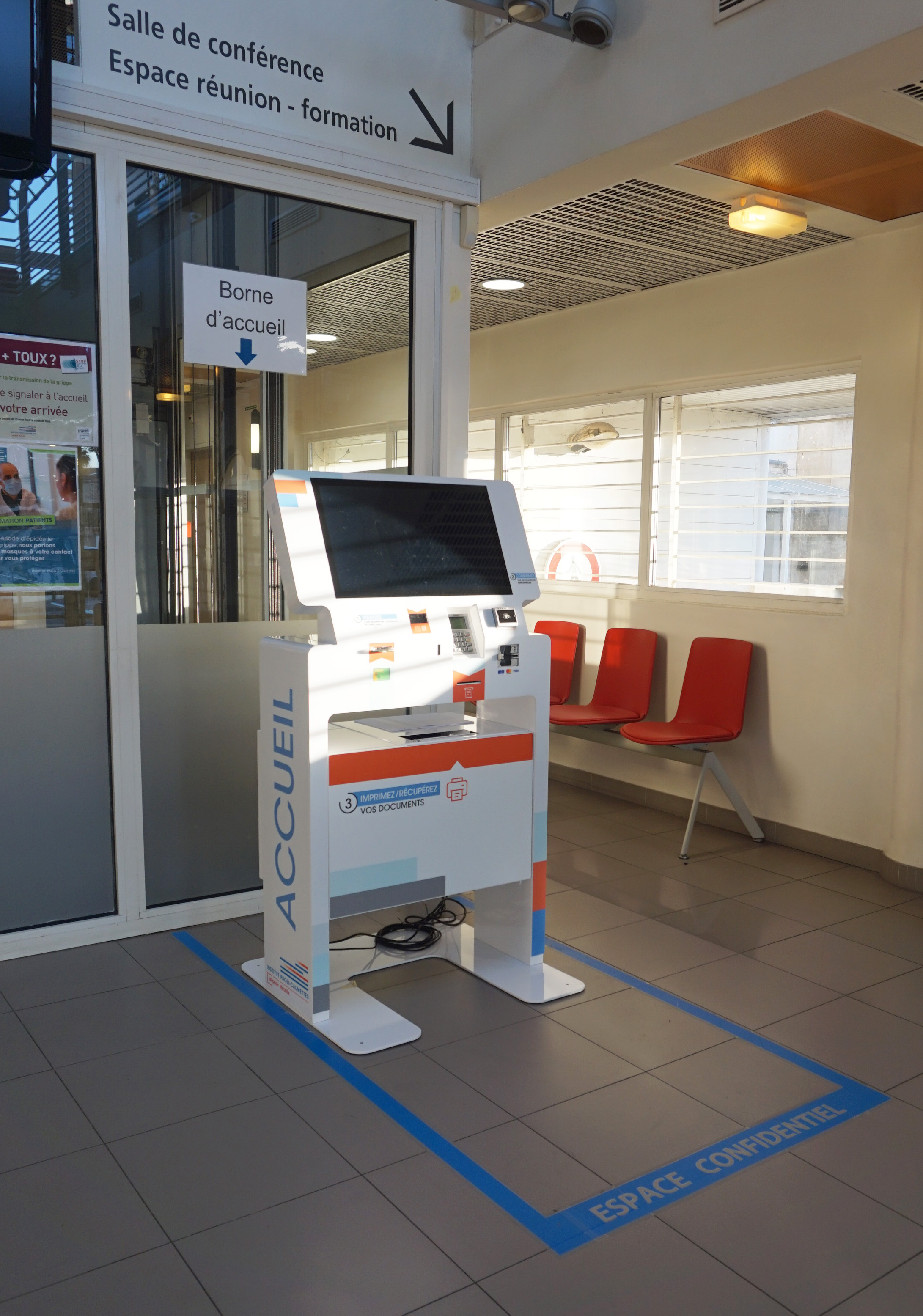 Interactive kiosk patient admission IPC