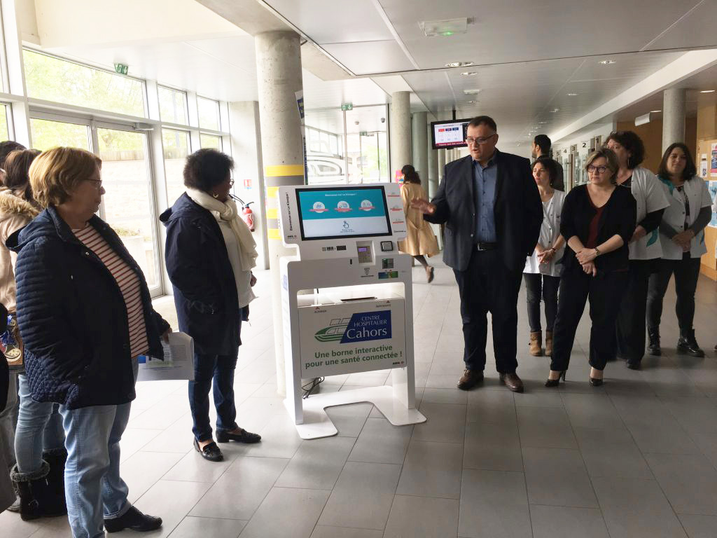 Borne interactive-cahors-agfa healthcare-ipmfrance