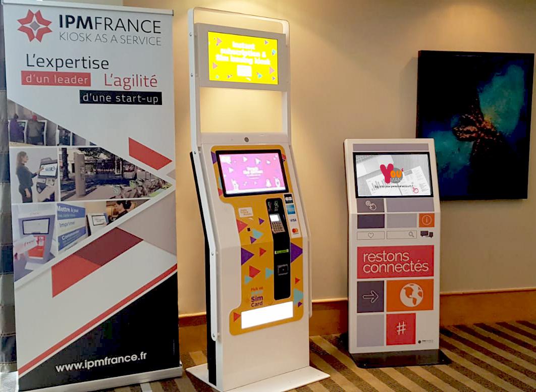 quioscos interactivos de IPM France en la feria E-BISS