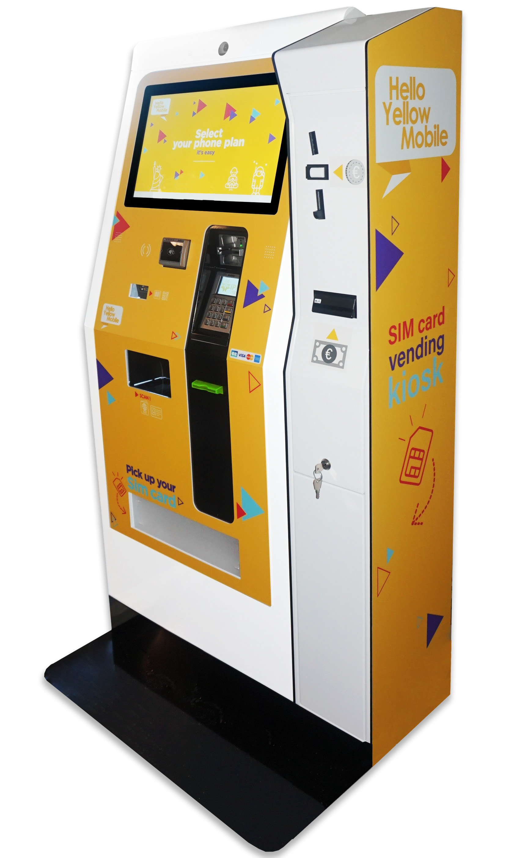 Borne EK3000-distribution de cartes sim paiement carte bancaire, mobile et especes