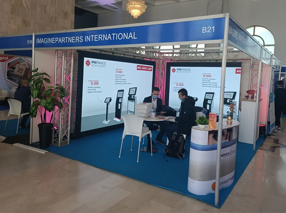 ImaginePartners-salon ICT Maghreb 2021-IPM France-borne interactive7